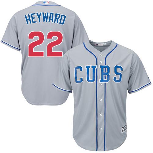 1745674ef Men s Majestic Chicago Cubs  22 Jason Heyward Replica Grey Alternate Road Cool  Base MLB Jersey