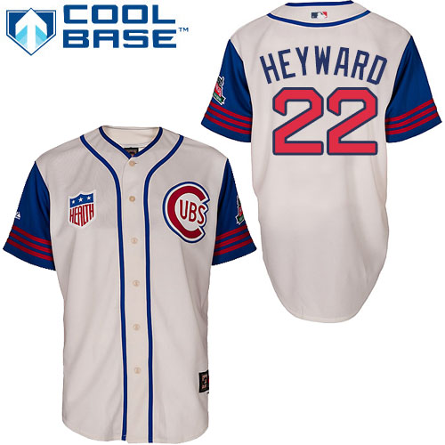 9d96144a3 Men's Majestic Chicago Cubs #22 Jason Heyward Authentic Cream/Blue 1942 Turn  Back The