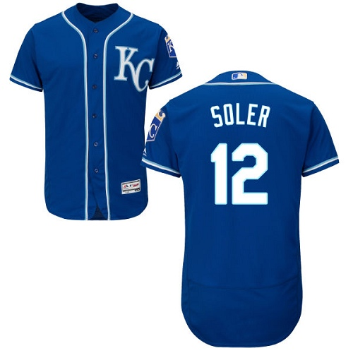 6ca8ffc89 Men s Majestic Kansas City Royals  12 Jorge Soler Blue Flexbase Authentic  Collection MLB Jersey