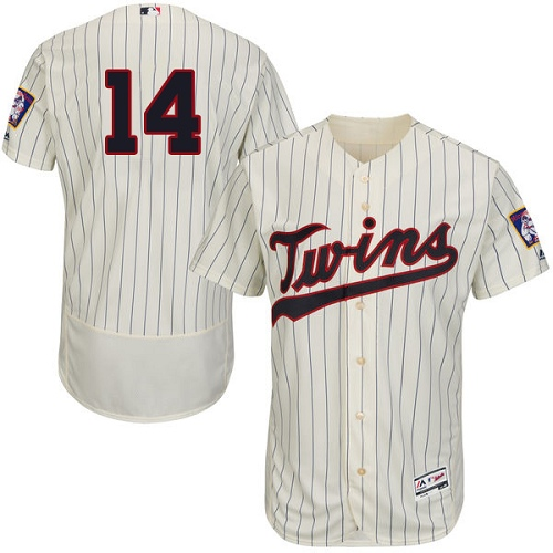 Men s Majestic Minnesota Twins  14 Kent Hrbek Authentic Cream Alternate  Cool Base MLB Jersey def70fc53