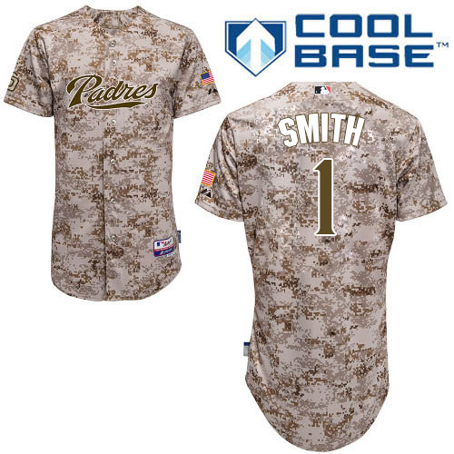 f787b3e6 Men's Majestic San Diego Padres #1 Ozzie Smith Authentic Camo Alternate 2  Cool Base MLB