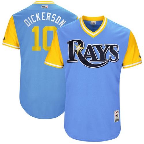 c49d6636f73 Men s Majestic Tampa Bay Rays  10 Corey Dickerson