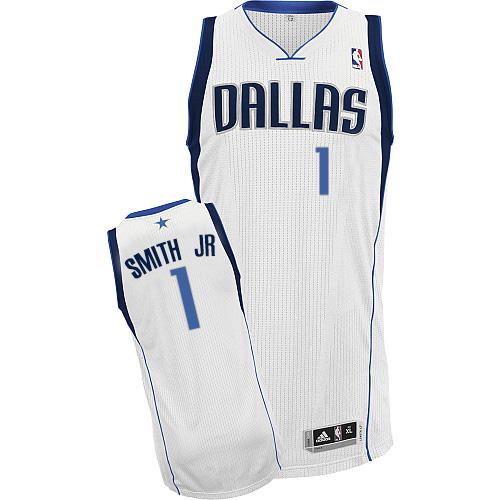 Men s Adidas Dallas Mavericks  1 Dennis Smith Jr. Authentic White Home NBA  Jersey 7606ee0e1