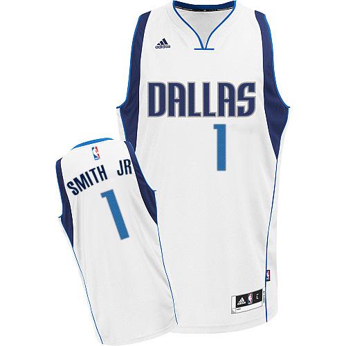 Men s Adidas Dallas Mavericks  1 Dennis Smith Jr. Swingman White Home NBA  Jersey 82596f95c