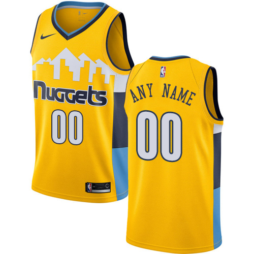896c2ebe924 Men's Nike Denver Nuggets Customized Authentic Gold Alternate NBA Jersey  Statement Edition