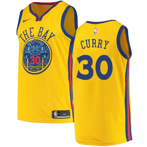 brand new 0d309 add11 Swingman Nike Men's Stephen Curry Gold Jersey - #30 NBA ...