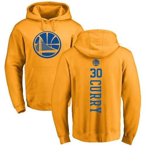 720f54300 NBA Nike Golden State Warriors  30 Stephen Curry Gold One Color Backer Pullover  Hoodie