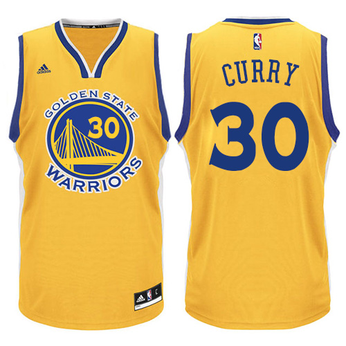 deed8449f Men s Adidas Golden State Warriors  30 Stephen Curry Swingman Gold NBA  Jersey