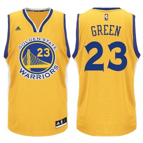 f958ee498 Men s Adidas Golden State Warriors  23 Draymond Green Authentic Gold NBA  Jersey
