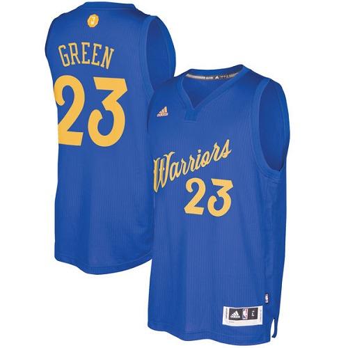 751e0be3b Men s Adidas Golden State Warriors  23 Draymond Green Swingman Royal Blue  2016-2017 Christmas