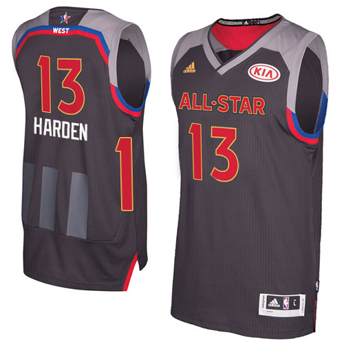 4276606152b Men s Adidas Houston Rockets  13 James Harden Authentic Charcoal 2017 All  Star NBA Jersey