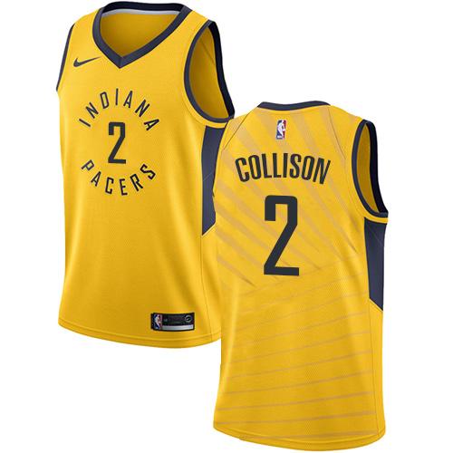a0ec5318c98 Men\'s Adidas Indiana Pacers #2 Darren Collison Authentic Gold Alternate NBA  Jersey