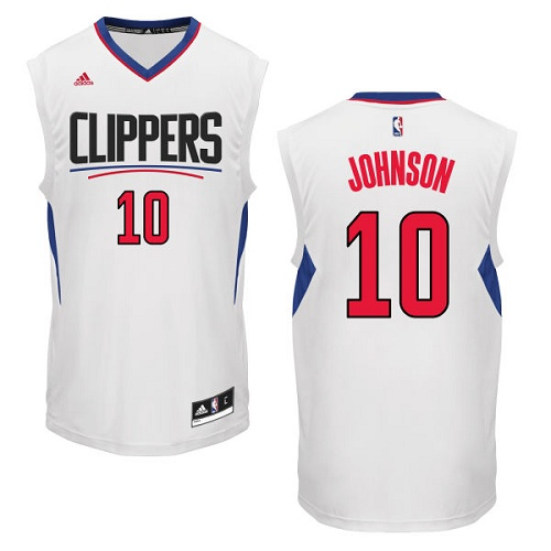 583b341d0 Men s Adidas Los Angeles Clippers  10 Brice Johnson Authentic White Home  NBA Jersey