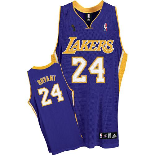 Men s Adidas Los Angeles Lakers  24 Kobe Bryant Swingman Purple Road  Champions Patch NBA Jersey dcce97d3b