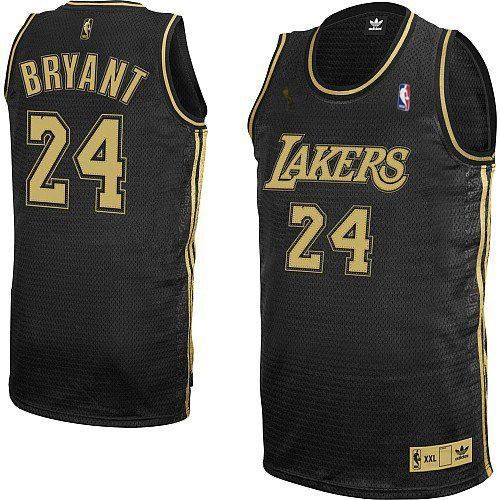 585632736 Men s Adidas Los Angeles Lakers  24 Kobe Bryant Authentic Black Grey No. NBA