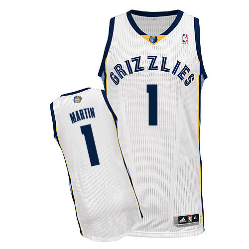 473544b7b28 Men s Adidas Memphis Grizzlies  1 Jarell Martin Authentic White Home NBA  Jersey