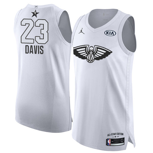 c2e5d5784ec Men s Adidas New Orleans Pelicans  23 Anthony Davis Authentic Black 2015  All Star NBA Jersey