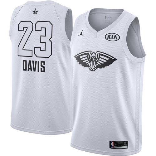 e6aa9efd7 Men s Adidas New Orleans Pelicans  23 Anthony Davis Swingman Black 2015 All  Star NBA Jersey
