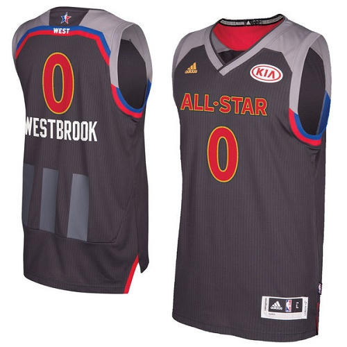 Men s Adidas Oklahoma City Thunder  0 Russell Westbrook Authentic Charcoal  2017 All Star NBA Jersey 5f9d21869