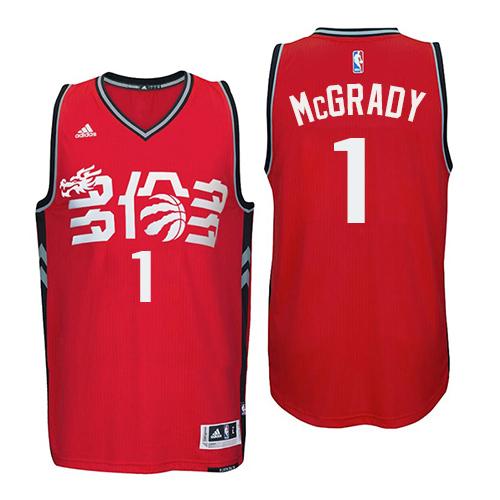 b9f7c336c2e Men s Adidas Toronto Raptors  1 Tracy Mcgrady Swingman Red Chinese New Year NBA  Jersey