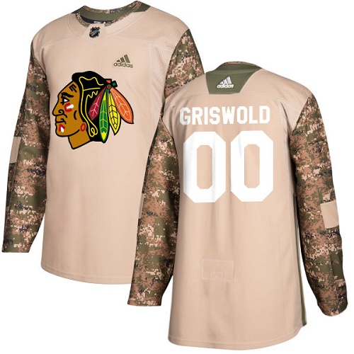 Men s Adidas Chicago Blackhawks  00 Clark Griswold Authentic Camo Veterans  Day Practice NHL Jersey 07937bb4a