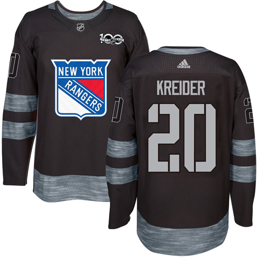 Men s Adidas New York Rangers  20 Chris Kreider Premier Black 1917-2017  100th Anniversary efb8c531c