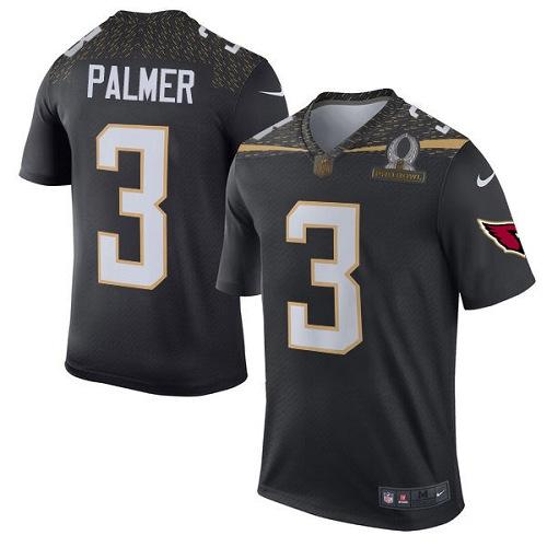 fb79391e7 Men's Nike Arizona Cardinals #3 Carson Palmer Elite Black Team Irvin 2016  Pro Bowl NFL
