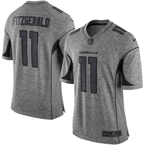 Men s Nike Arizona Cardinals  11 Larry Fitzgerald Limited Gray Gridiron NFL  Jersey a90465053