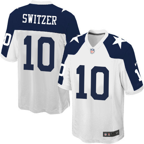 c3b73742a66 Men's Nike Dallas Cowboys #10 Ryan Switzer Game White Throwback Alternate  NFL Jersey