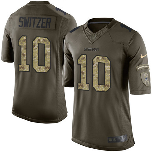 Men s Nike Dallas Cowboys  10 Ryan Switzer Limited Green Salute to Service NFL  Jersey 33a6b3082