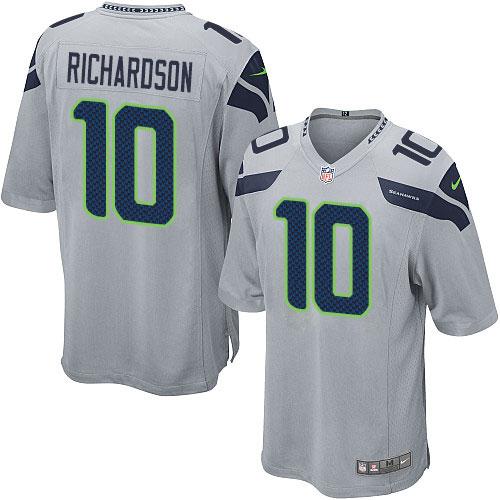 458211897 Men's Nike Seattle Seahawks #10 Paul Richardson Game Grey Alternate NFL  Jersey