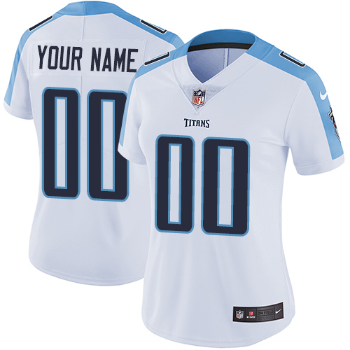 Women s Nike Tennessee Titans Customized White Vapor Untouchable Custom  Elite NFL Jersey bc236526d