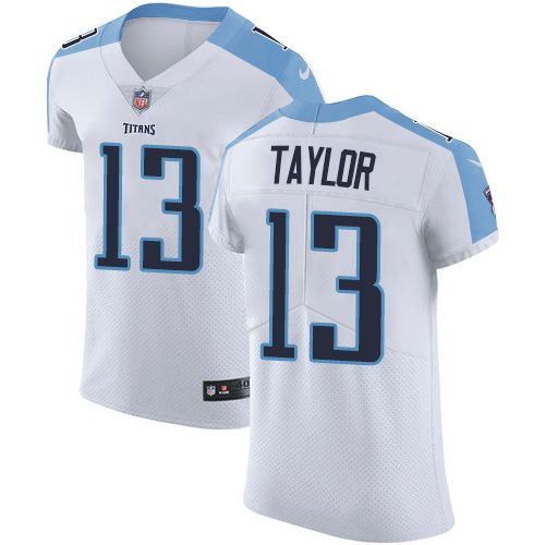 22057342 Men's Nike Tennessee Titans #13 Taywan Taylor White Vapor Untouchable Elite  Player NFL Jersey