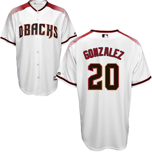 Men's Majestic Arizona Diamondbacks #20 Luis Gonzalez Authentic White Home Cool Base MLB Jersey