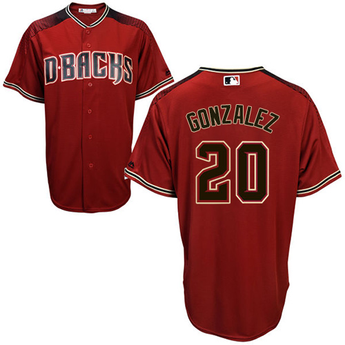Men's Majestic Arizona Diamondbacks #20 Luis Gonzalez Authentic Red/Brick Alternate Cool Base MLB Jersey