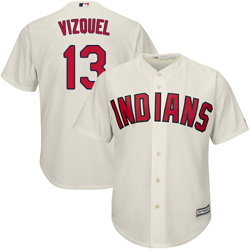Men's Majestic Cleveland Indians #11 Jose Ramirez Replica Grey Road Cool Base MLB Jersey
