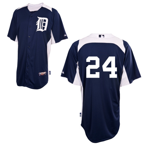 Men's Majestic Detroit Tigers #24 Miguel Cabrera Authentic Navy Blue 2011 Home Cool Base BP MLB Jersey