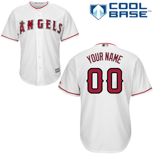Youth Majestic Los Angeles Angels of Anaheim Customized Replica White Home Cool Base MLB Jersey