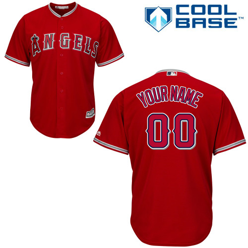 Youth Majestic Los Angeles Angels of Anaheim Customized Authentic Red Alternate Cool Base MLB Jersey