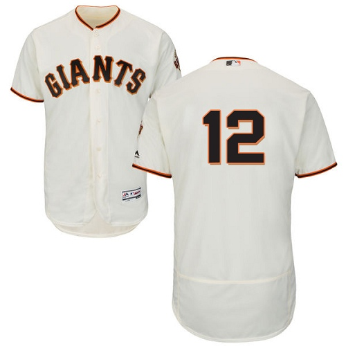 Men's Majestic San Francisco Giants #12 Joe Panik Authentic Cream Home Cool Base MLB Jersey