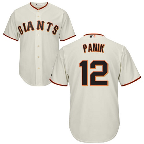 Men's Majestic San Francisco Giants #12 Joe Panik Replica Cream Home Cool Base MLB Jersey