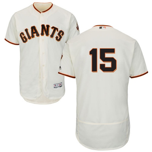Men's Majestic San Francisco Giants #15 Bruce Bochy Authentic Cream Home Cool Base MLB Jersey