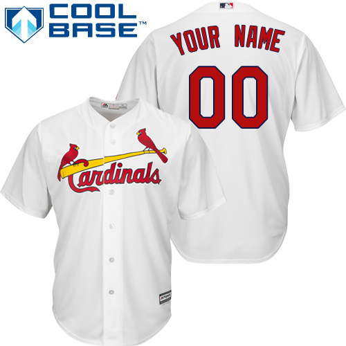 Men's Majestic St. Louis Cardinals Customized Replica White Home Cool Base MLB Jersey