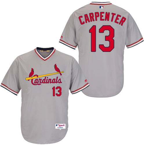 Men's Majestic St. Louis Cardinals #13 Matt Carpenter Authentic Grey 1978 Turn Back The Clock MLB Jersey