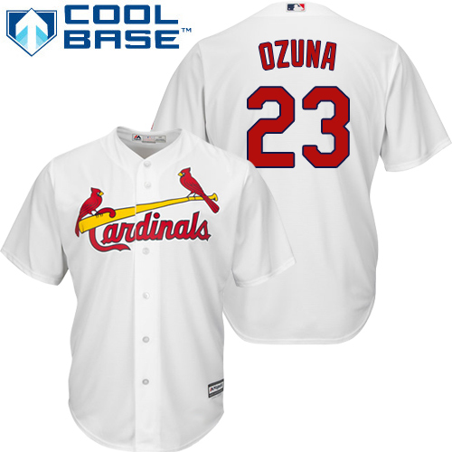 Men's Majestic St. Louis Cardinals #1 Ozzie Smith White Flexbase Authentic Collection MLB Jersey