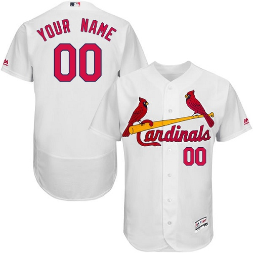 Men's Majestic St. Louis Cardinals Customized White Flexbase Authentic Collection MLB Jersey