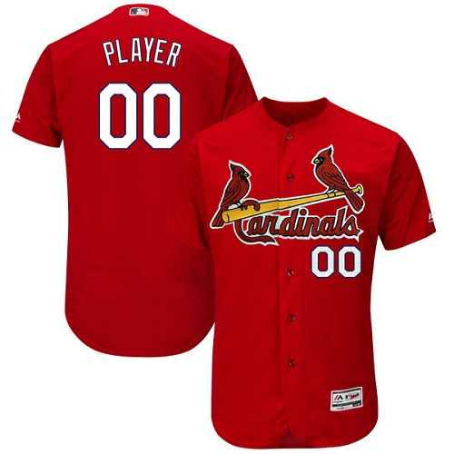 Men's Majestic St. Louis Cardinals Customized Red Flexbase Authentic Collection MLB Jersey