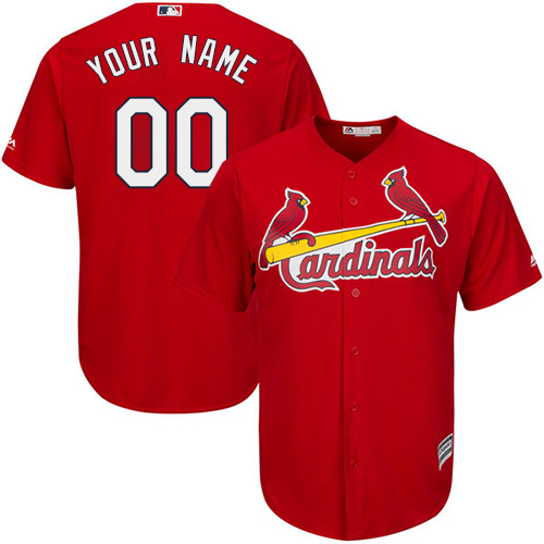 Men's Majestic St. Louis Cardinals Customized Replica Red Alternate Cool Base MLB Jersey