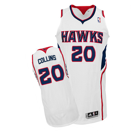 Men's Adidas Atlanta Hawks #20 John Collins Authentic White Home NBA Jersey