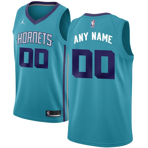 Men's Nike Jordan Charlotte Hornets Customized Authentic Teal NBA Jersey - Icon Edition